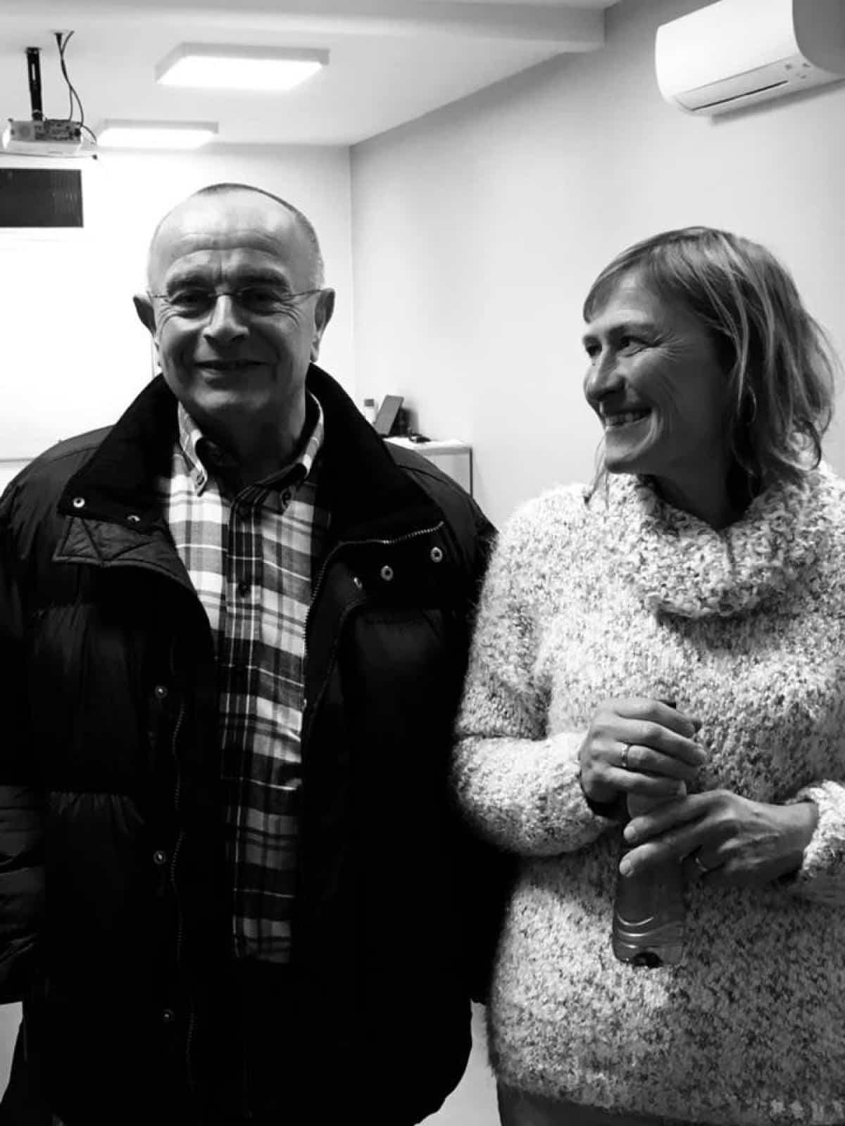 Jean-Claude Grosjean et Véronique Decamps, moniteurs à Malmedy et Eupen