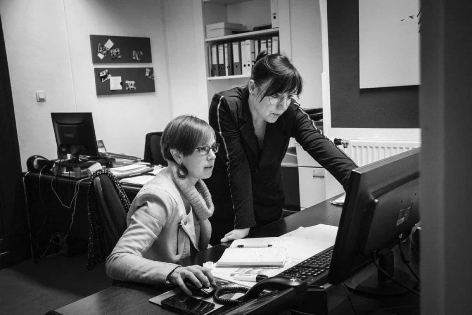 Doria Giet et Alix Peiffer, bureau de Malmedy